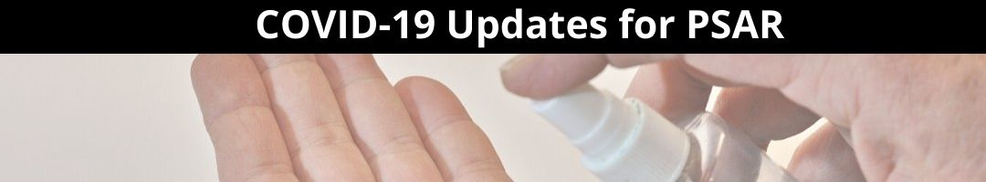 COVID-19 updates for PSAR